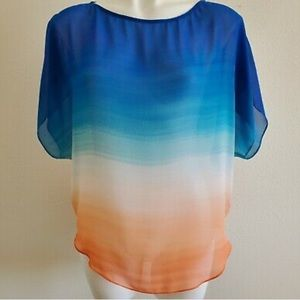Guess Sheer Ombre Blouse *Brand New*